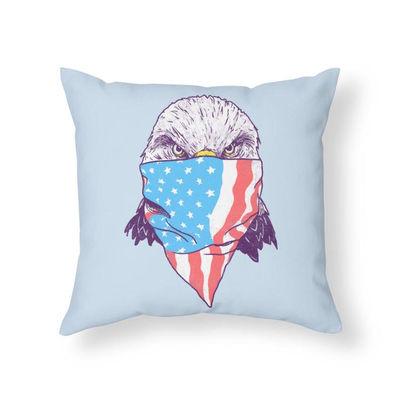 Bald Bandit Home Throw Pillow by hillarywhiterabbit's Artist Shop