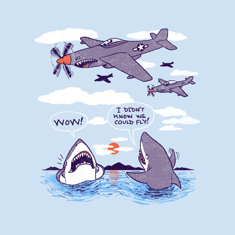 Flying Sharks None  by hillarywhiterabbit's Artist Shop