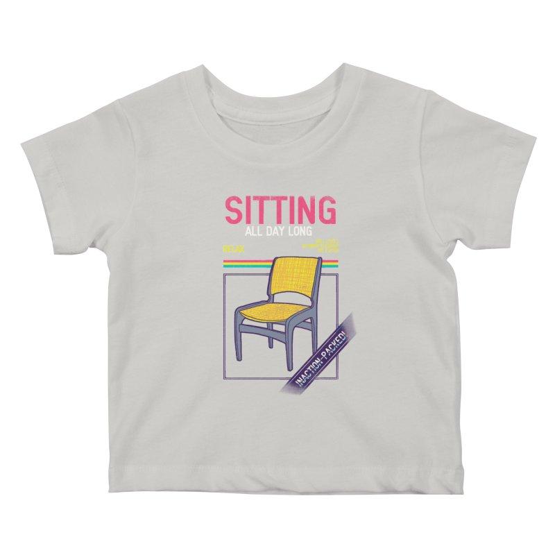 Sitting Kids Baby T-Shirt by hillarywhiterabbit's Artist Shop