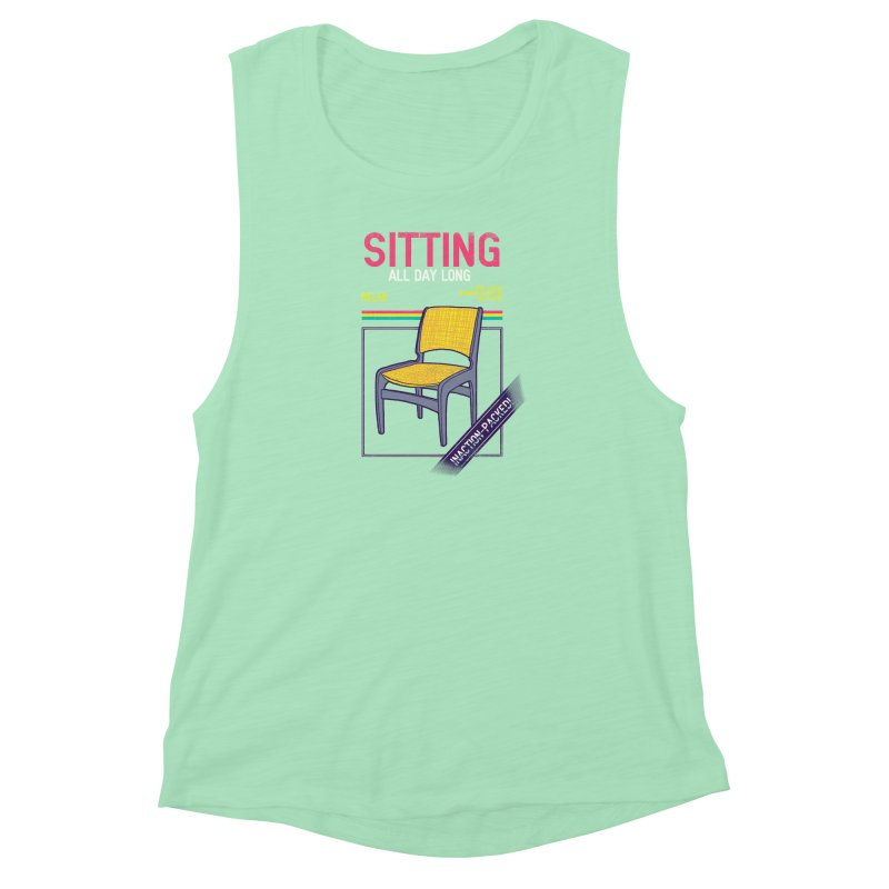 Sitting Women's Muscle Tank by hillarywhiterabbit's Artist Shop