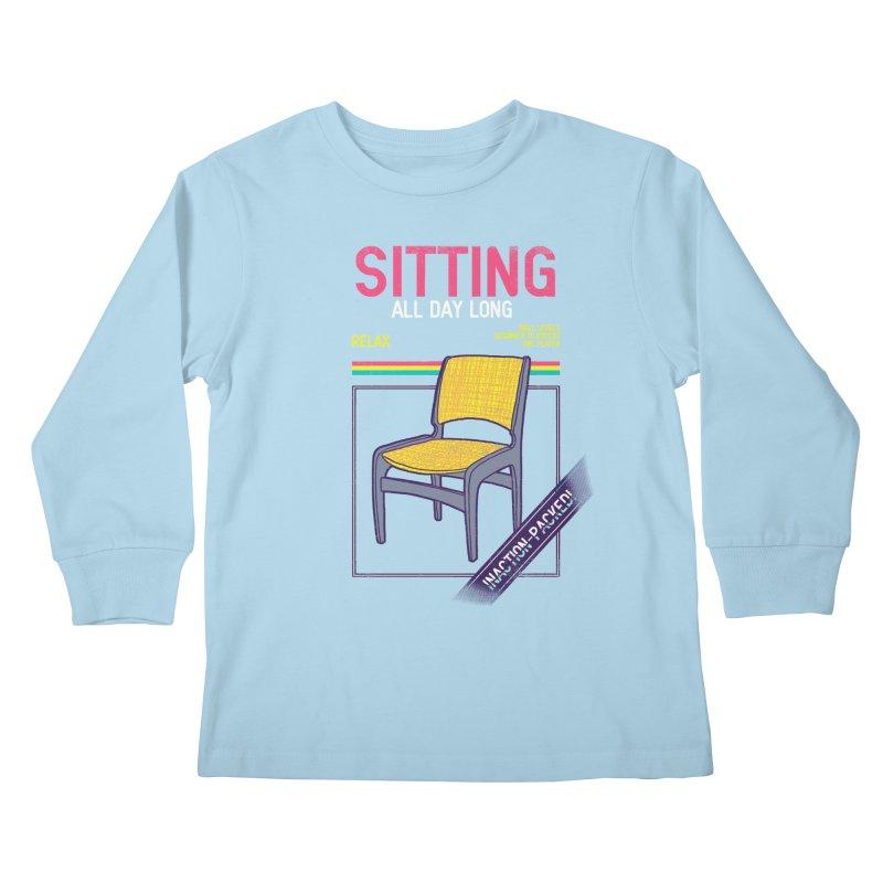 Sitting Kids Longsleeve T-Shirt by hillarywhiterabbit's Artist Shop