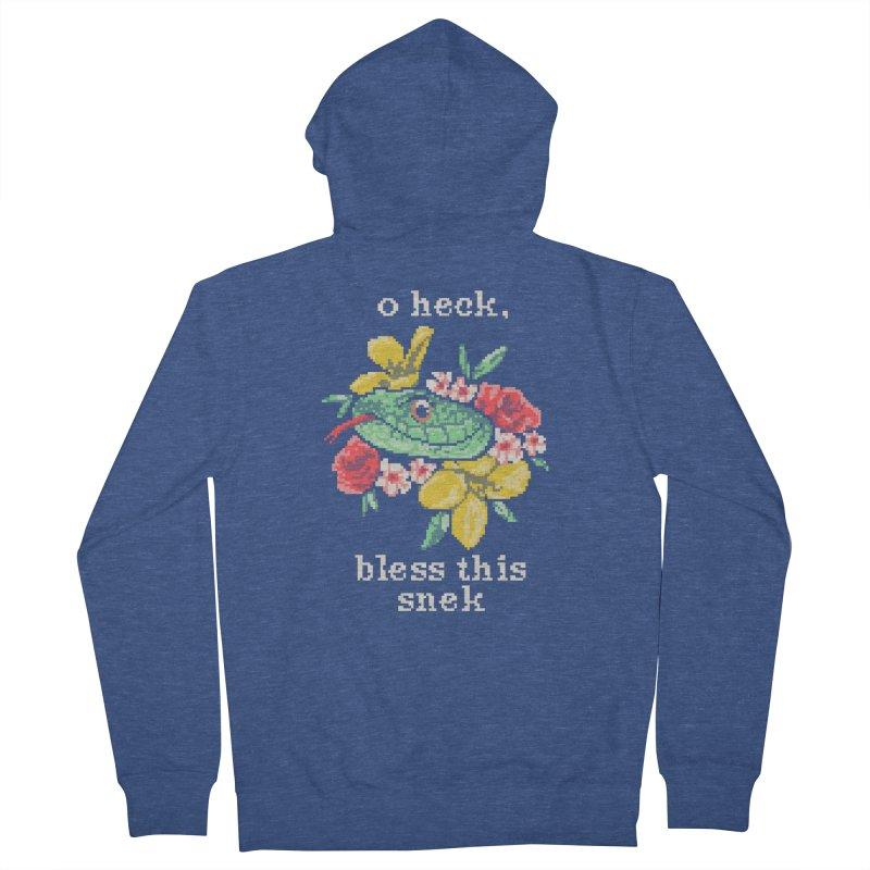 Bless This Snek Men's Zip-Up Hoody by hillarywhiterabbit's Artist Shop