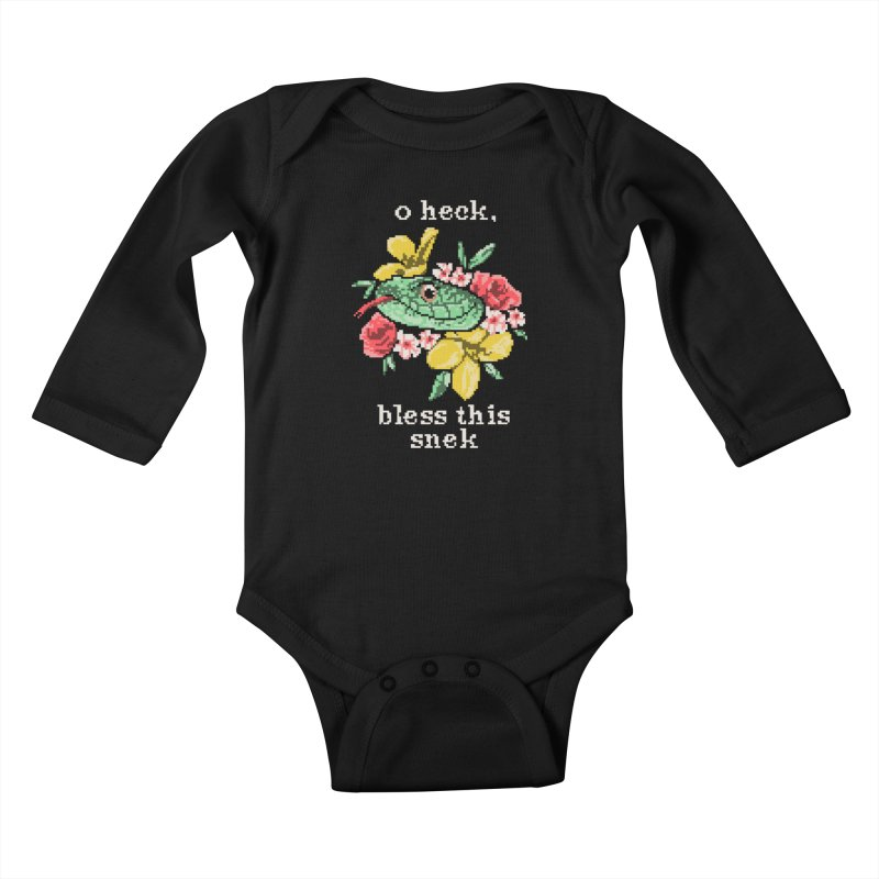 Bless This Snek Kids Baby Longsleeve Bodysuit by hillarywhiterabbit's Artist Shop