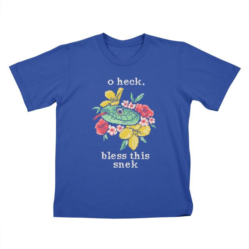 Bless This Snek Kids T-shirt by hillarywhiterabbit's Artist Shop