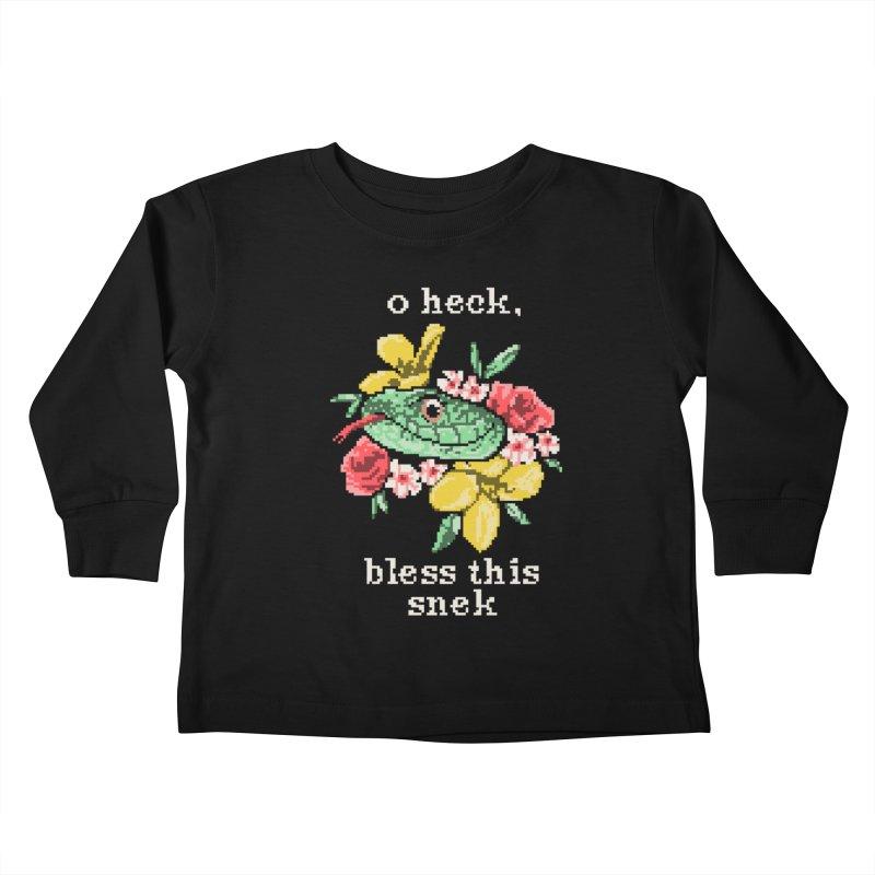 Bless This Snek Kids Toddler Longsleeve T-Shirt by hillarywhiterabbit's Artist Shop