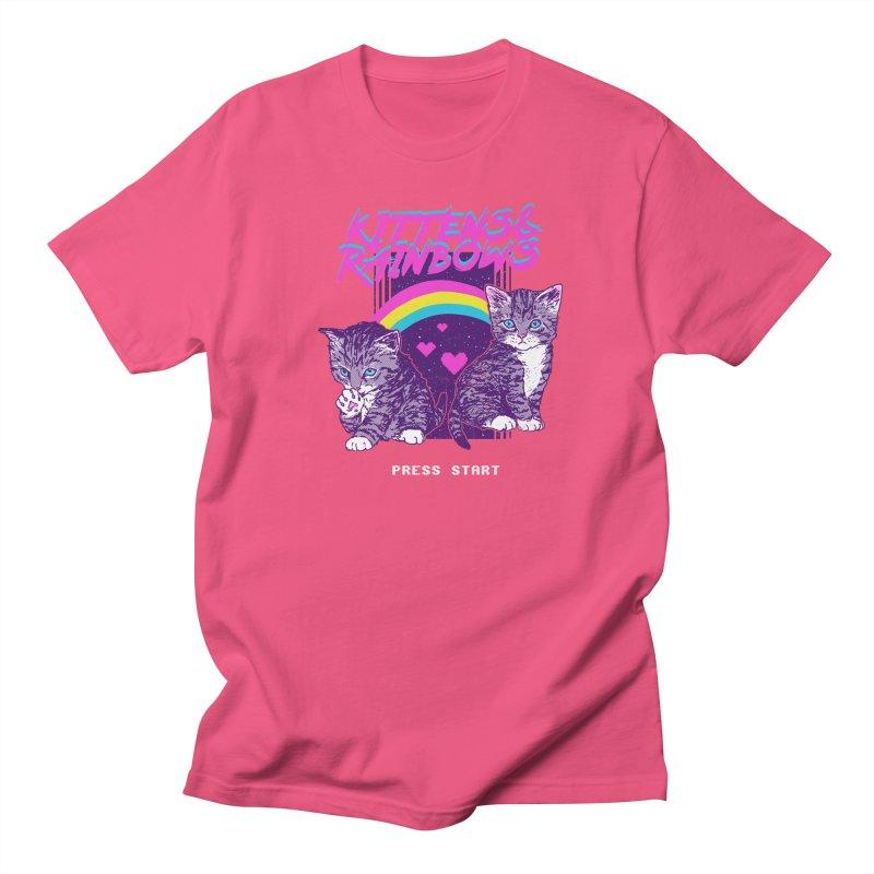 Kittens & Rainbows Men's T-shirt by hillarywhiterabbit's Artist Shop