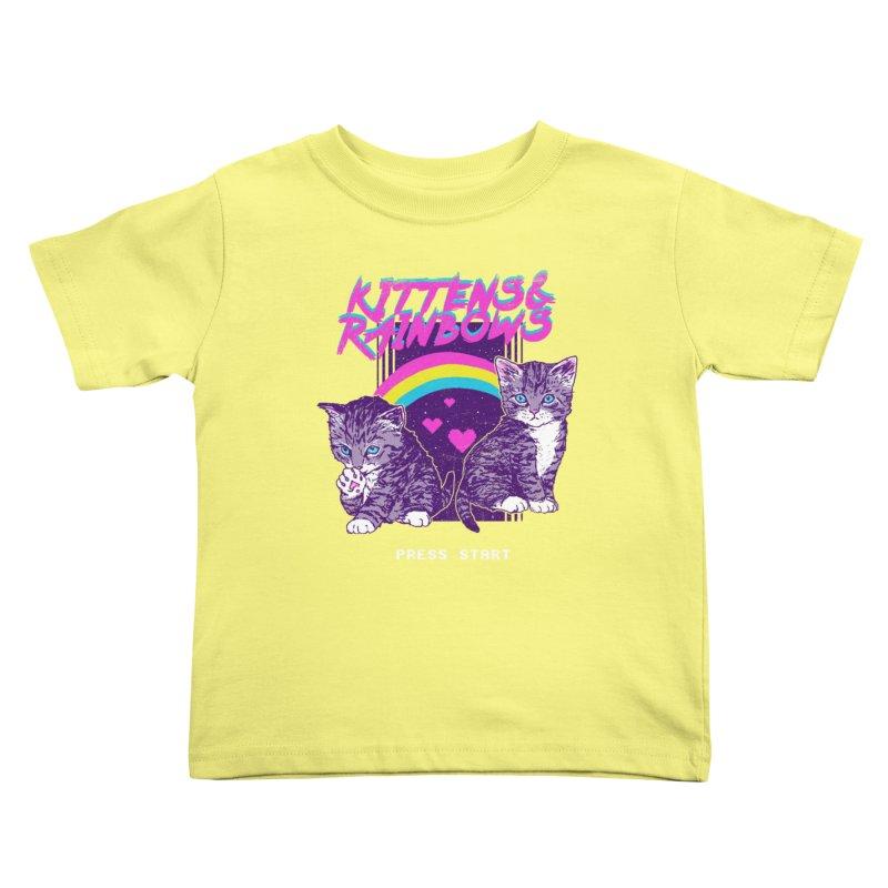 Kittens & Rainbows Kids Toddler T-Shirt by hillarywhiterabbit's Artist Shop