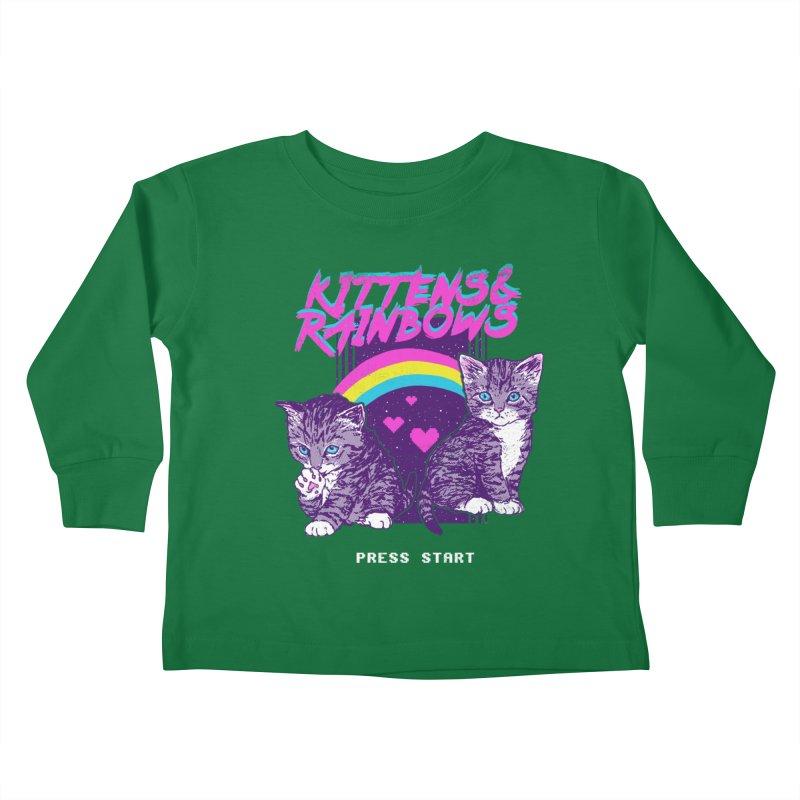 Kittens & Rainbows Kids Toddler Longsleeve T-Shirt by hillarywhiterabbit's Artist Shop