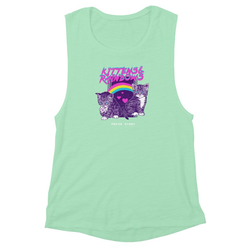 Kittens & Rainbows Women's Muscle Tank by hillarywhiterabbit's Artist Shop