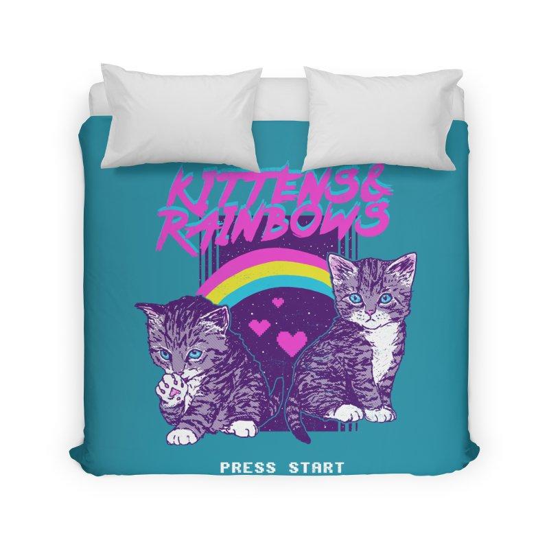 Kittens & Rainbows Home Duvet by hillarywhiterabbit's Artist Shop