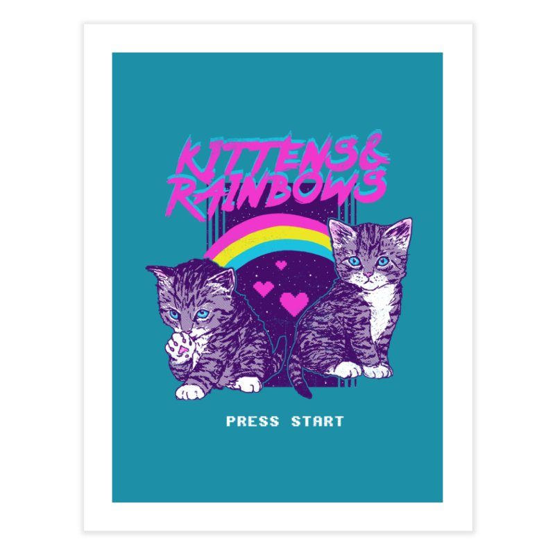 Kittens & Rainbows Home Fine Art Print by hillarywhiterabbit's Artist Shop