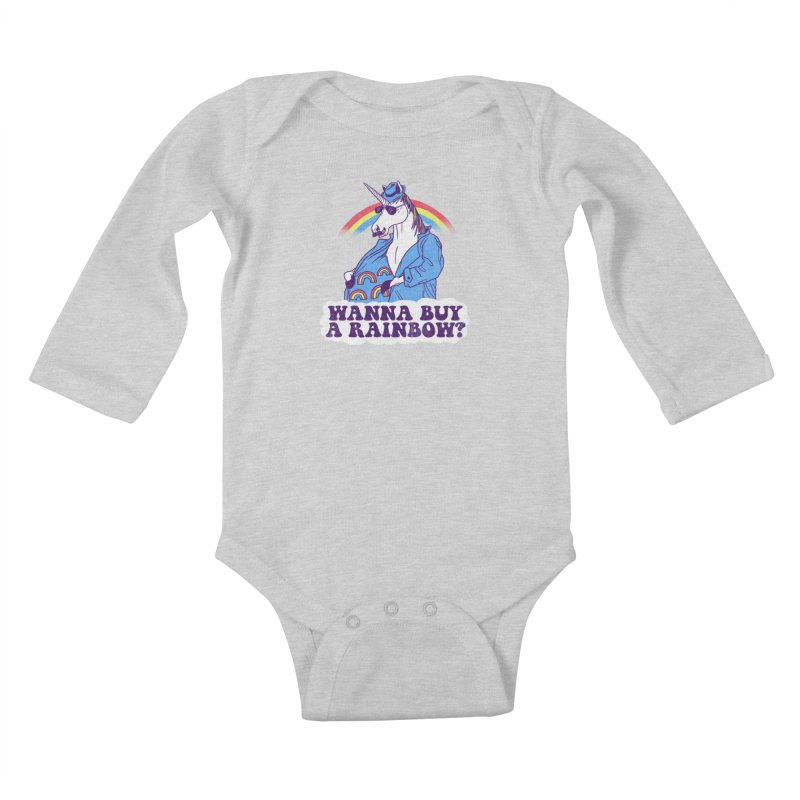 Unicorntraband Kids Baby Longsleeve Bodysuit by hillarywhiterabbit's Artist Shop