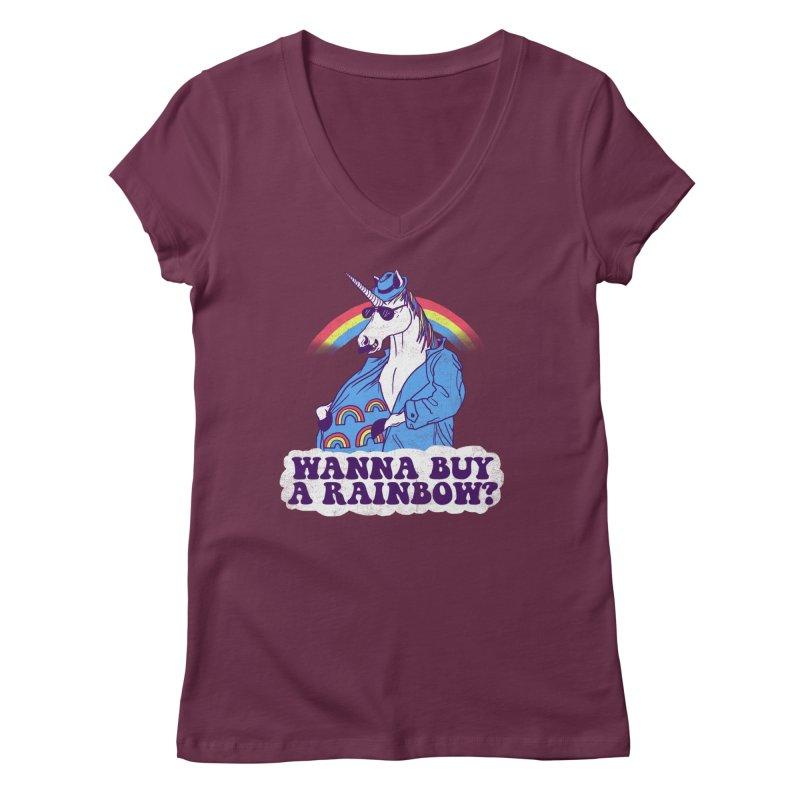Unicorntraband Women's V-Neck by hillarywhiterabbit's Artist Shop