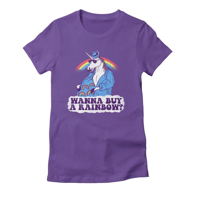 Unicorntraband Women's Fitted T-Shirt by hillarywhiterabbit's Artist Shop