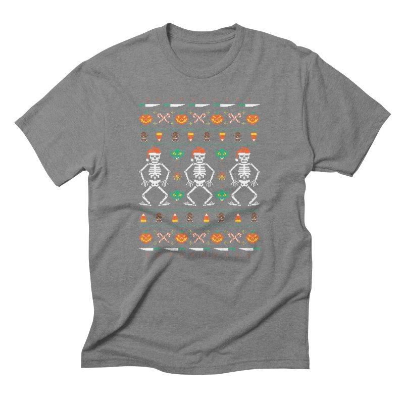 Trick Or Christmas Men's Triblend T-shirt by hillarywhiterabbit's Artist Shop