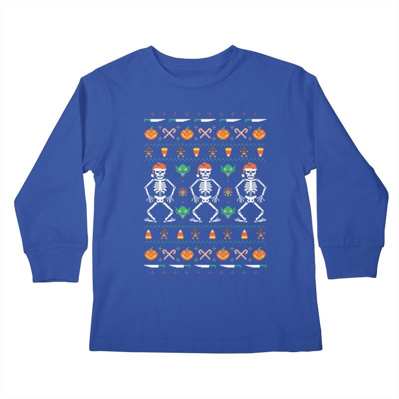 Trick Or Christmas Kids Longsleeve T-Shirt by hillarywhiterabbit's Artist Shop