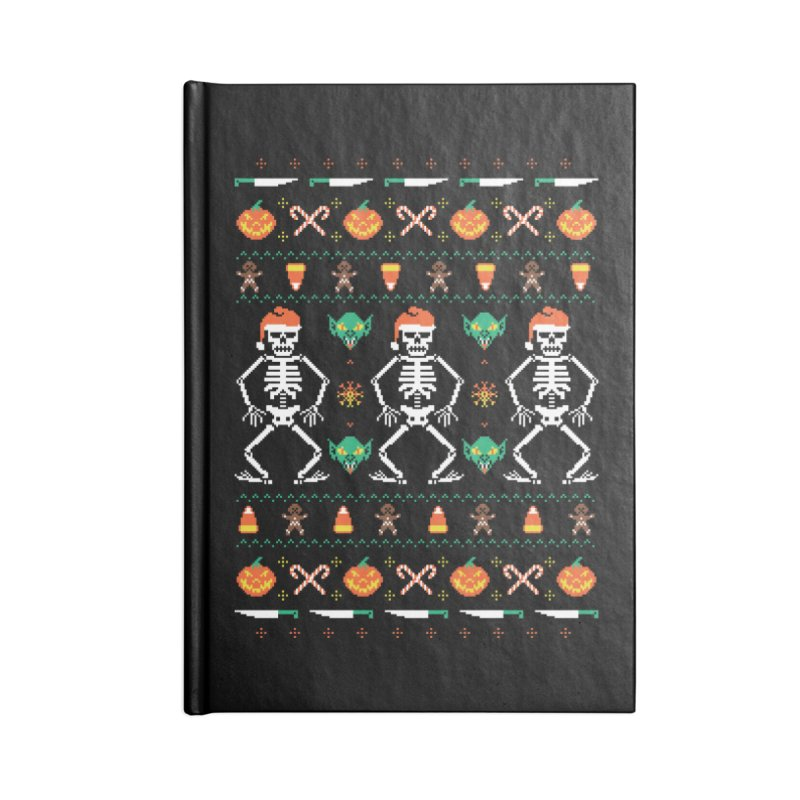 Trick Or Christmas Accessories Notebook by hillarywhiterabbit's Artist Shop
