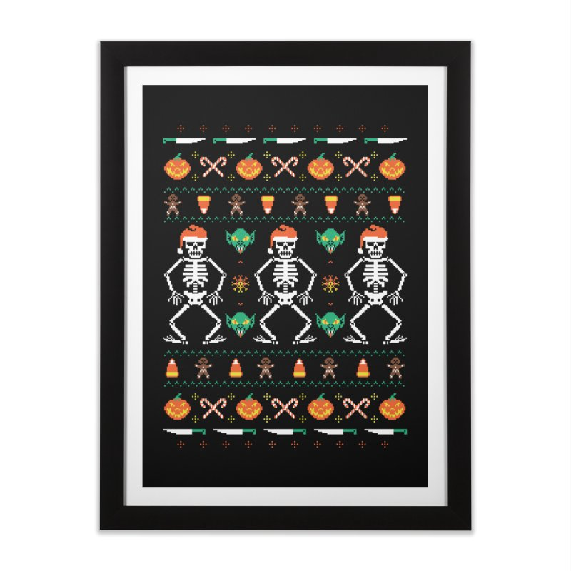 Trick Or Christmas Home Framed Fine Art Print by hillarywhiterabbit's Artist Shop