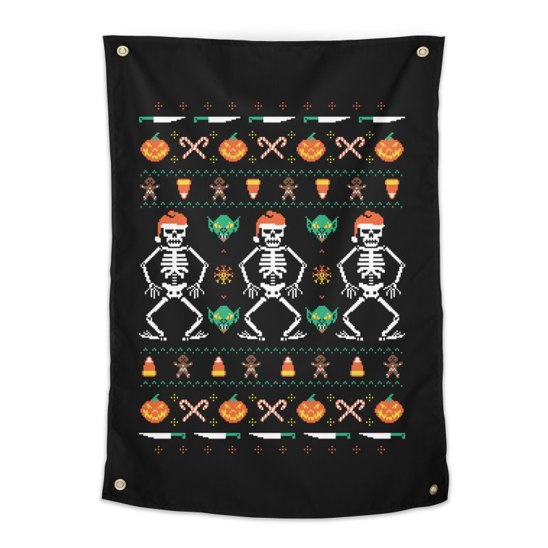Trick Or Christmas Home Tapestry by hillarywhiterabbit's Artist Shop