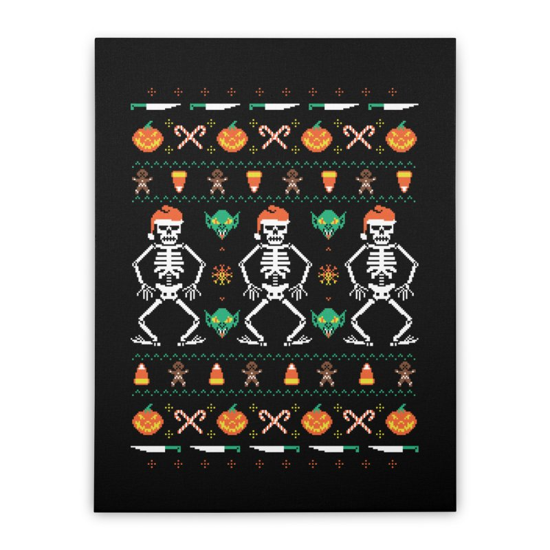 Trick Or Christmas Home Stretched Canvas by hillarywhiterabbit's Artist Shop