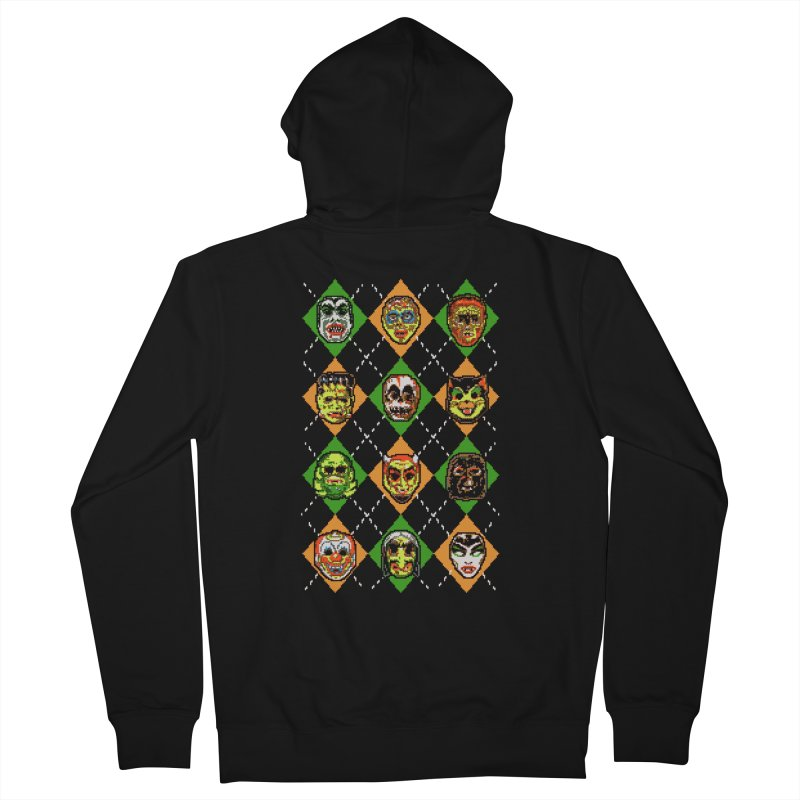 Scary Christmask Men's Zip-Up Hoody by hillarywhiterabbit's Artist Shop