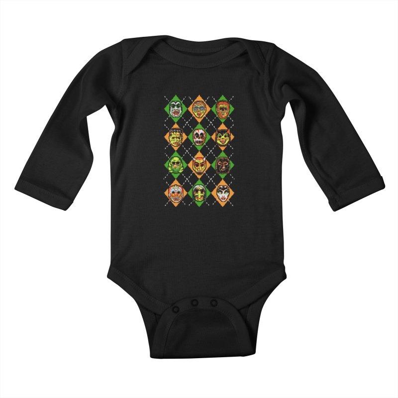 Scary Christmask Kids Baby Longsleeve Bodysuit by hillarywhiterabbit's Artist Shop
