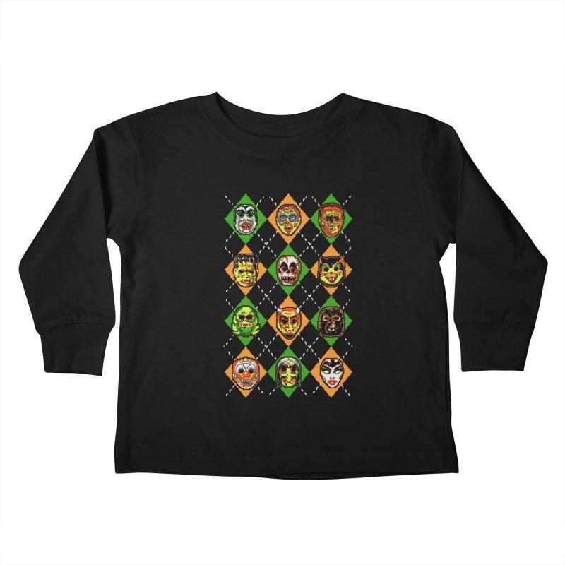 Scary Christmask Kids Toddler Longsleeve T-Shirt by hillarywhiterabbit's Artist Shop