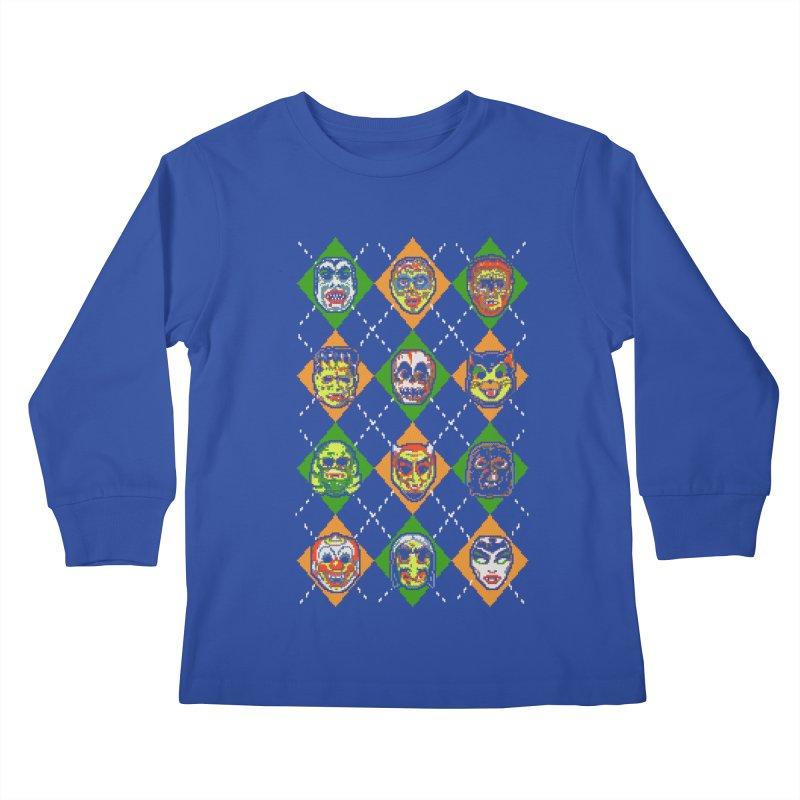Scary Christmask Kids Longsleeve T-Shirt by hillarywhiterabbit's Artist Shop