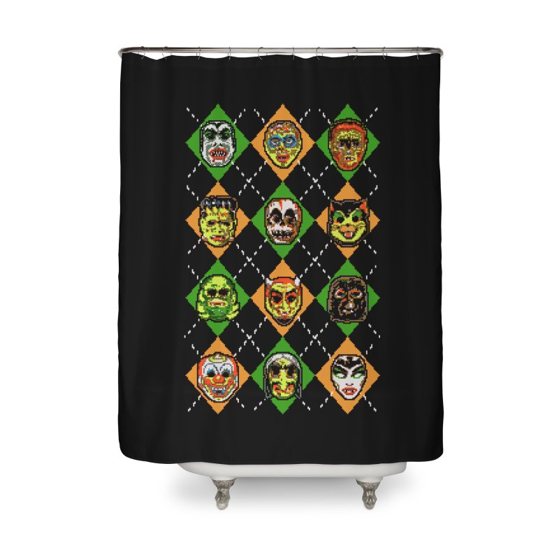 Scary Christmask Home Shower Curtain by hillarywhiterabbit's Artist Shop