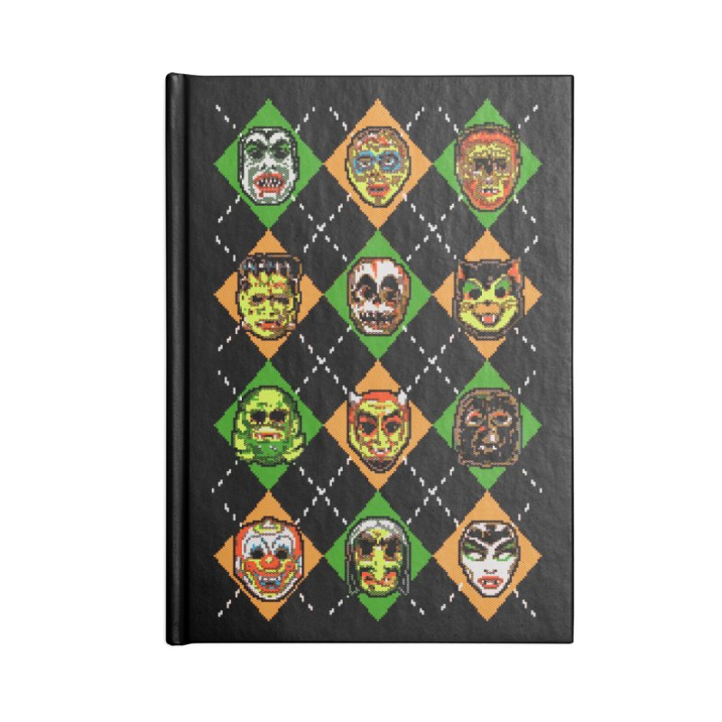 Scary Christmask Accessories Notebook by hillarywhiterabbit's Artist Shop