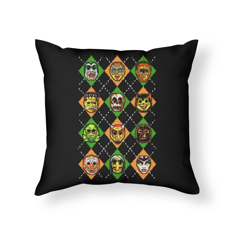 Scary Christmask Home Throw Pillow by hillarywhiterabbit's Artist Shop