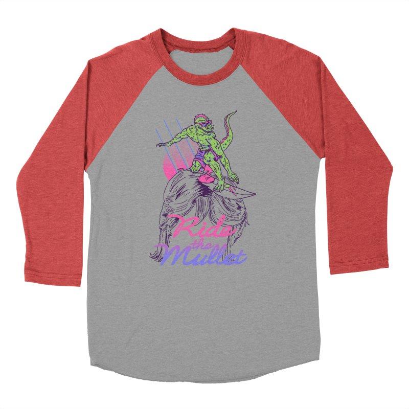 Mullet Surfer Men's Baseball Triblend T-Shirt by hillarywhiterabbit's Artist Shop