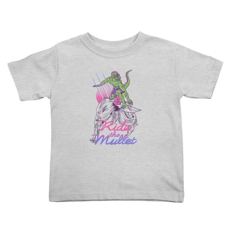 Mullet Surfer Kids Toddler T-Shirt by hillarywhiterabbit's Artist Shop