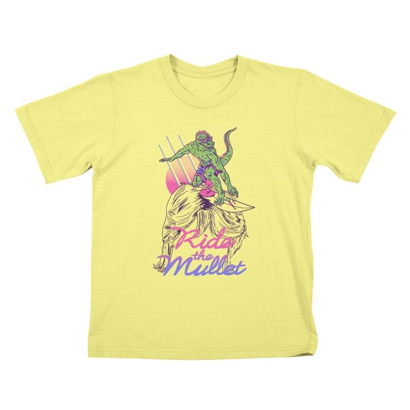 Mullet Surfer Kids T-shirt by hillarywhiterabbit's Artist Shop