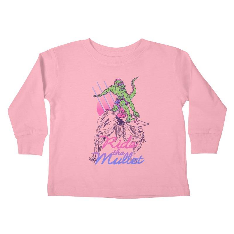 Mullet Surfer Kids Toddler Longsleeve T-Shirt by hillarywhiterabbit's Artist Shop