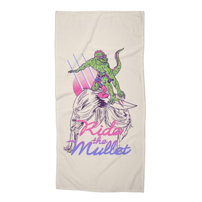Mullet Surfer Accessories Beach Towel by hillarywhiterabbit's Artist Shop