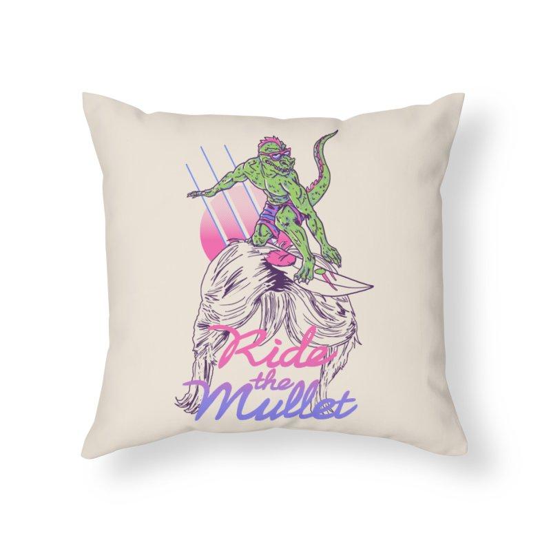 Mullet Surfer Home Throw Pillow by hillarywhiterabbit's Artist Shop