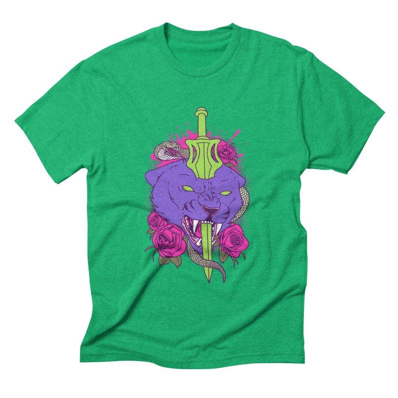 Savage Cat Men's Triblend T-shirt by hillarywhiterabbit's Artist Shop