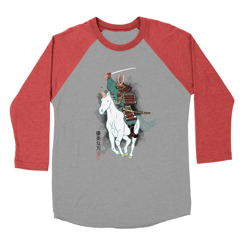 Uniyo-e Men's Baseball Triblend T-Shirt by hillarywhiterabbit's Artist Shop