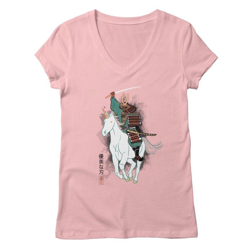 Uniyo-e Women's V-Neck by hillarywhiterabbit's Artist Shop