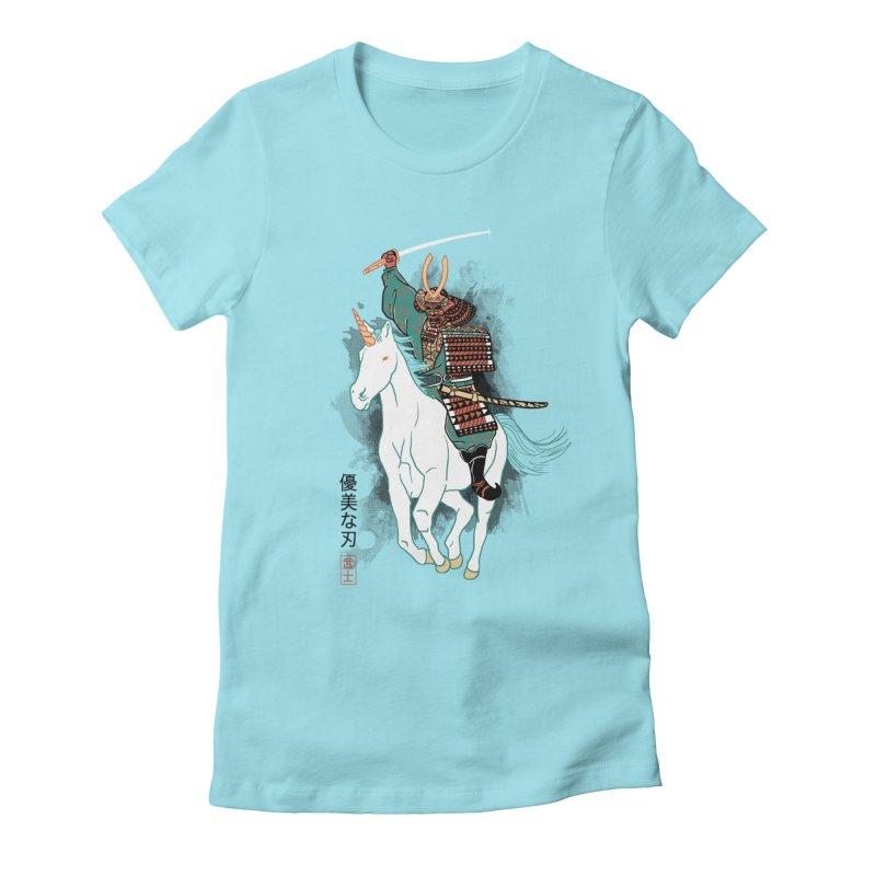 Uniyo-e Women's Fitted T-Shirt by hillarywhiterabbit's Artist Shop