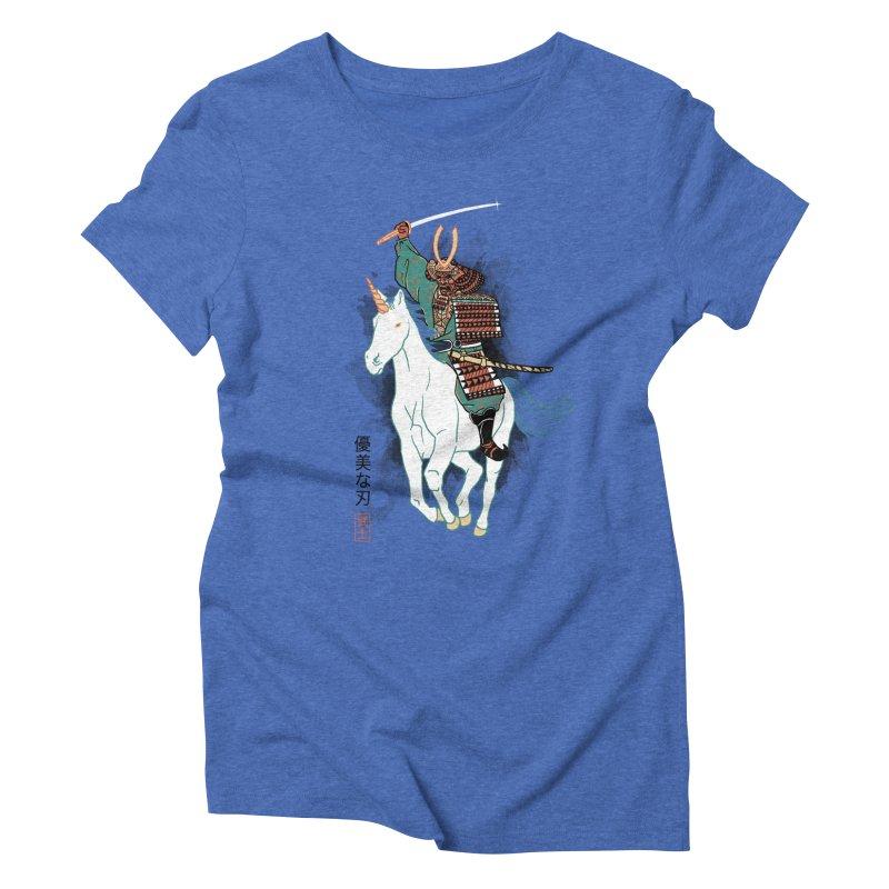 Uniyo-e Women's Triblend T-shirt by hillarywhiterabbit's Artist Shop