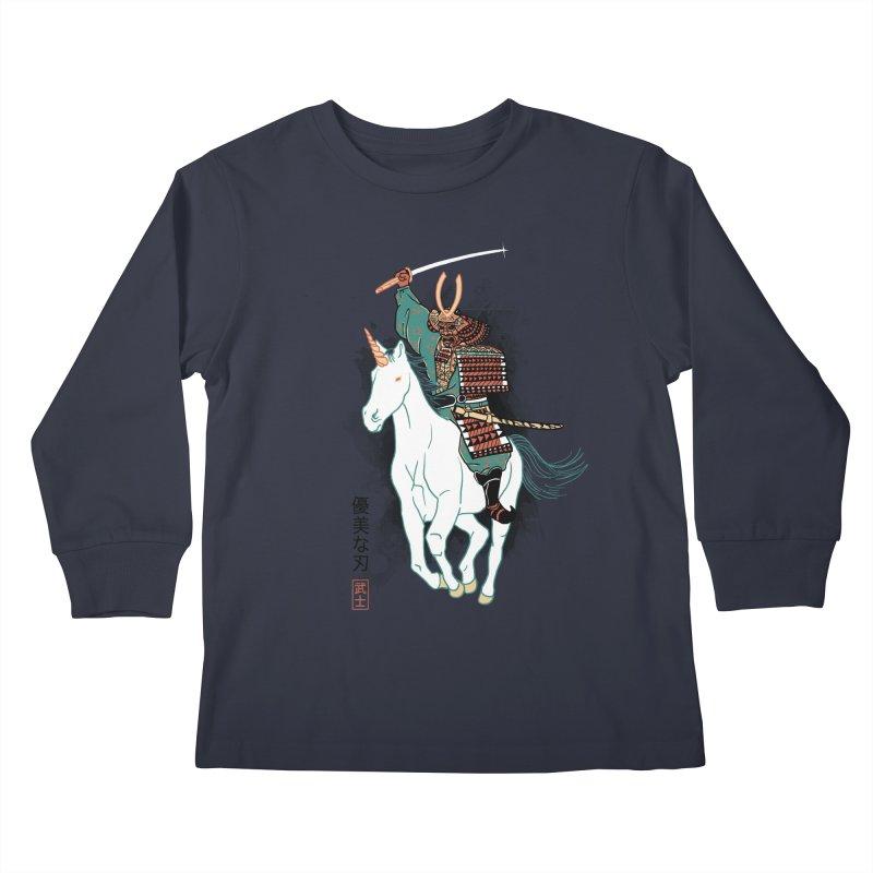 Uniyo-e Kids Longsleeve T-Shirt by hillarywhiterabbit's Artist Shop