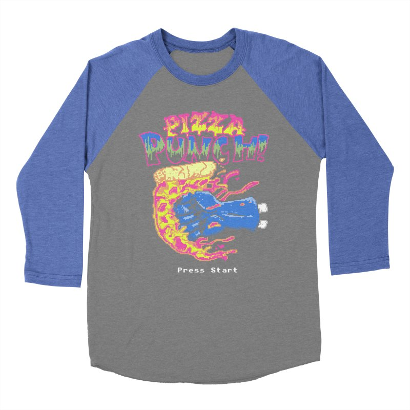 Pizza Punch Men's Baseball Triblend T-Shirt by hillarywhiterabbit's Artist Shop