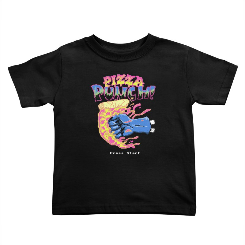 Pizza Punch Kids Toddler T-Shirt by hillarywhiterabbit's Artist Shop