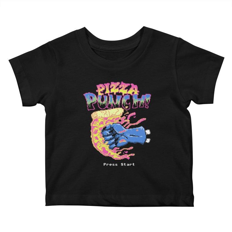 Pizza Punch Kids Baby T-Shirt by hillarywhiterabbit's Artist Shop