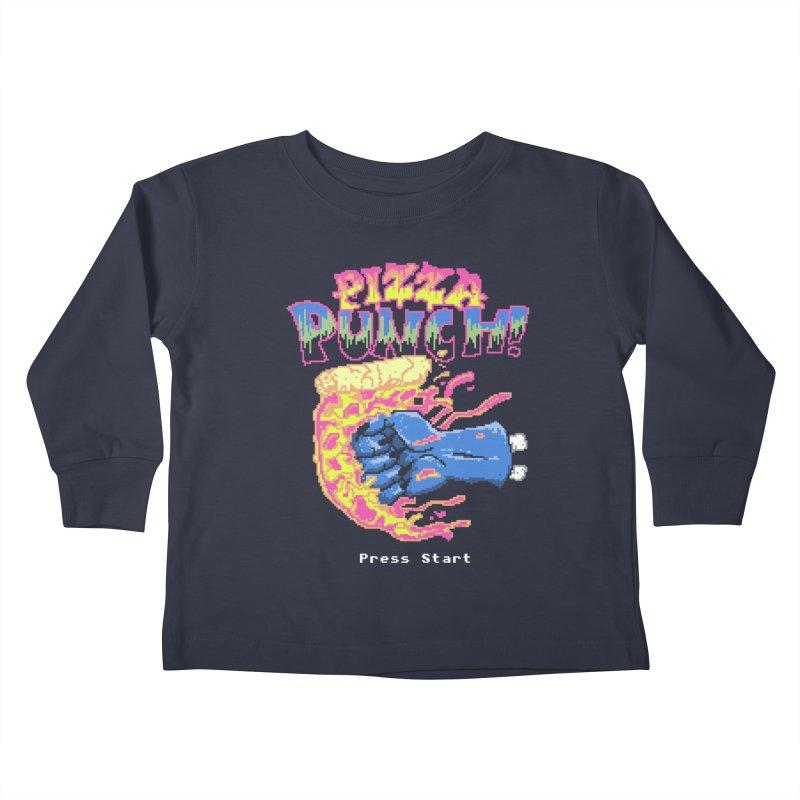 Pizza Punch Kids Toddler Longsleeve T-Shirt by hillarywhiterabbit's Artist Shop