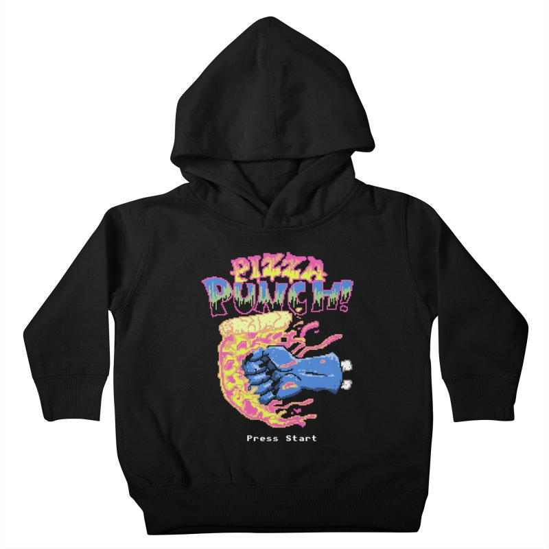 Pizza Punch Kids Toddler Pullover Hoody by hillarywhiterabbit's Artist Shop