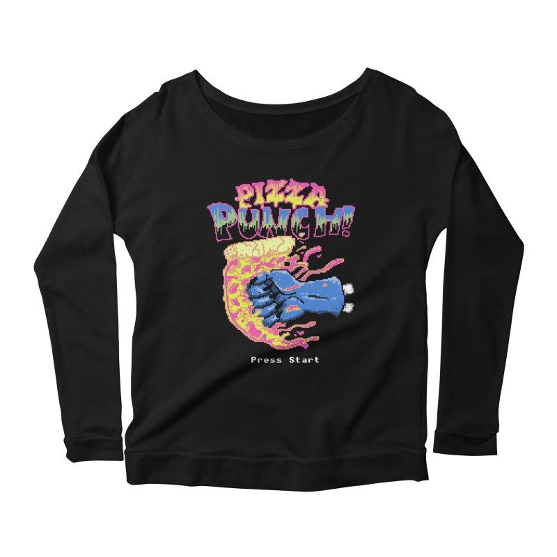 Pizza Punch Women's Longsleeve Scoopneck  by hillarywhiterabbit's Artist Shop