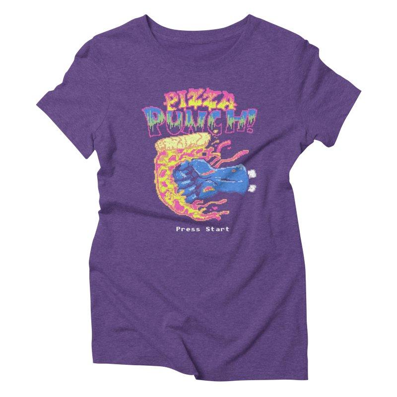 Pizza Punch Women's Triblend T-shirt by hillarywhiterabbit's Artist Shop